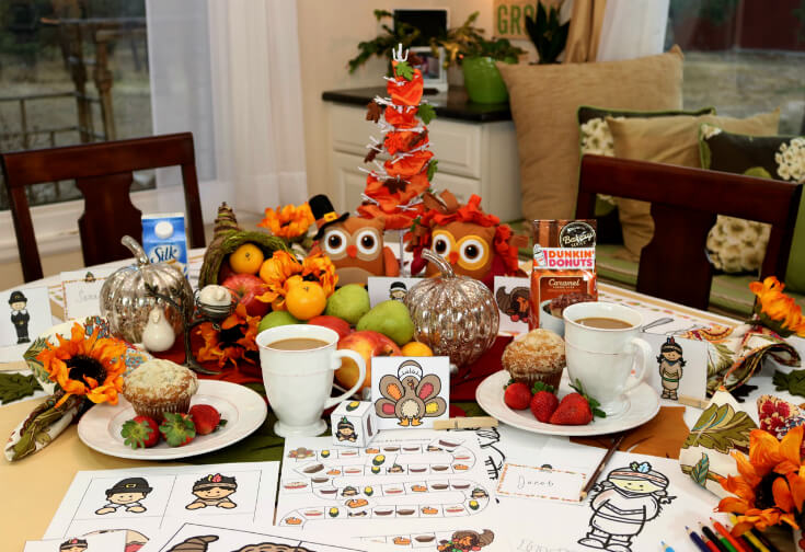 Thanksgiving Morning starts off extra special with this 30 Page Thanksgiving Activities for Kids Printable Pack