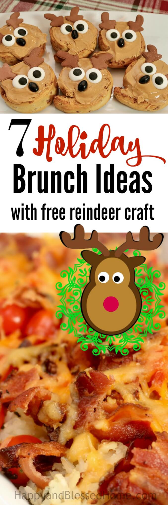 7 Holiday Brunch Ideas for Hosting a Brunch Party with a FREE Reindeer Craft Printable! Tips for a hearty breakfast that stays warm all morning long, family fun ideas, a walk down memory lane, and easy cleanup. Ad #SavorTheMemory with a holiday Brunch Party this year!