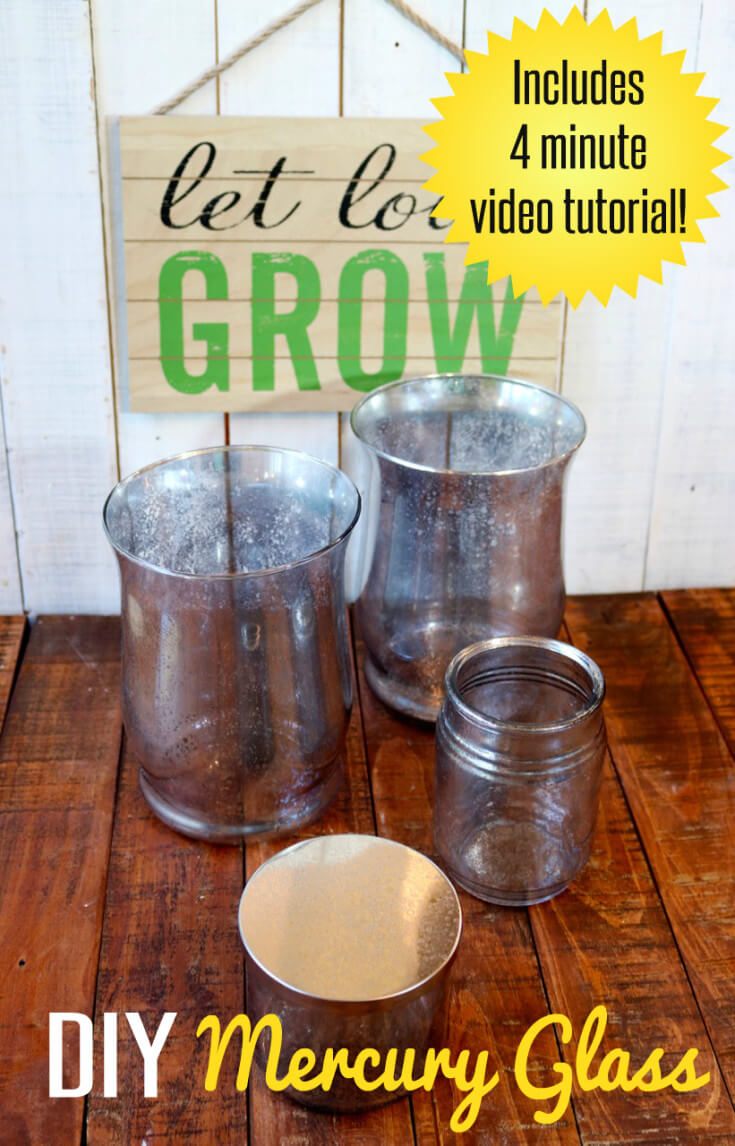 EASY DIY Faux Mercury Glass inspires me to decorate my home and give gorgeous gifts