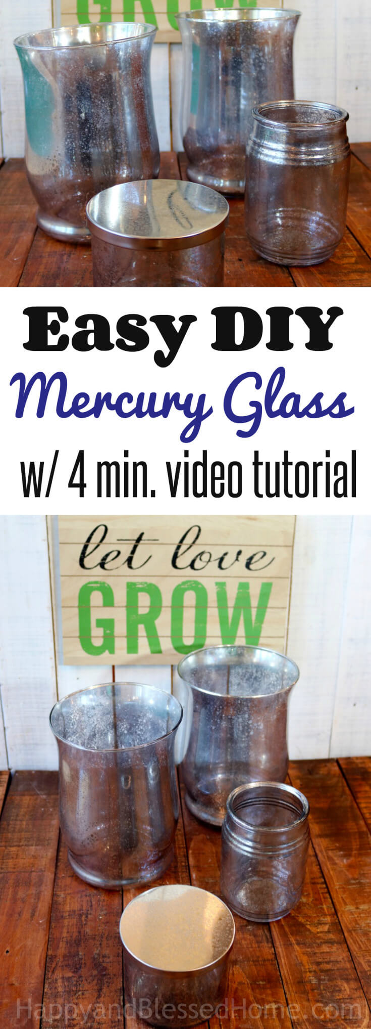 EASY DIY Mercury Glass - Faux Mercury Glass with a 4 minute video tutorial