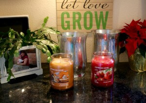 I selected American Home candles by Yankee Candle for this DIY Faux Mercury Glass project