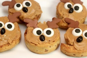 Peanut butter frosted reindeer rolls make for perfect Sunday Brunch Ideas for Hosting a Brunch Party