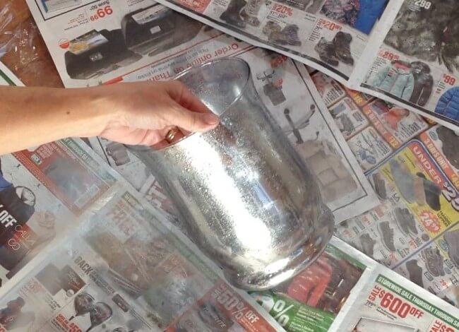 Faux Mercury Glass - Spray with Looking Glass Spray