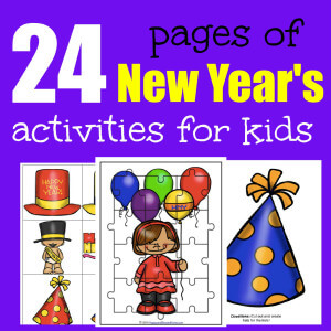 FREE New Year's Activity Pack for Kids