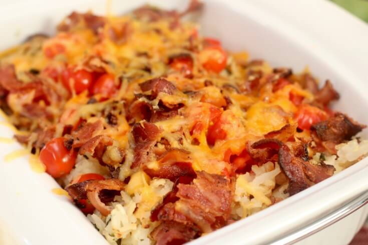 The perfect dish for brunch - My Easy Recipe- Hash browns, Eggs and Bacon Breakfast Casserole.jpg