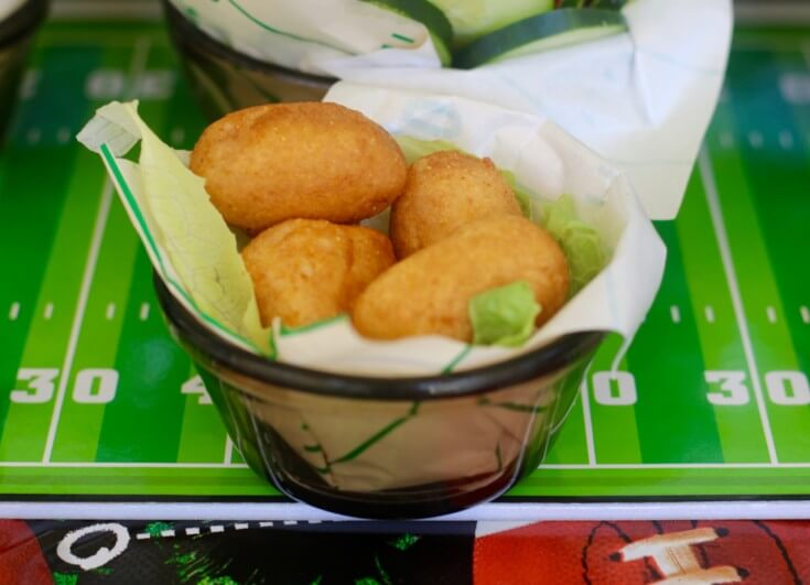 Bite sized football party food - State Fair® Mini Corn Dogs