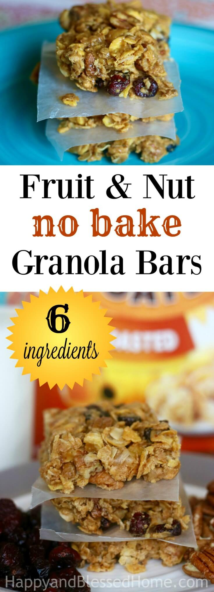 fizzy fruit healthy fruit and nut granola bar recipe