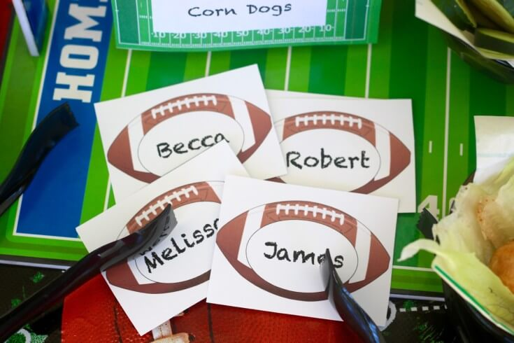 FREE Football Party Printables - Name Tags