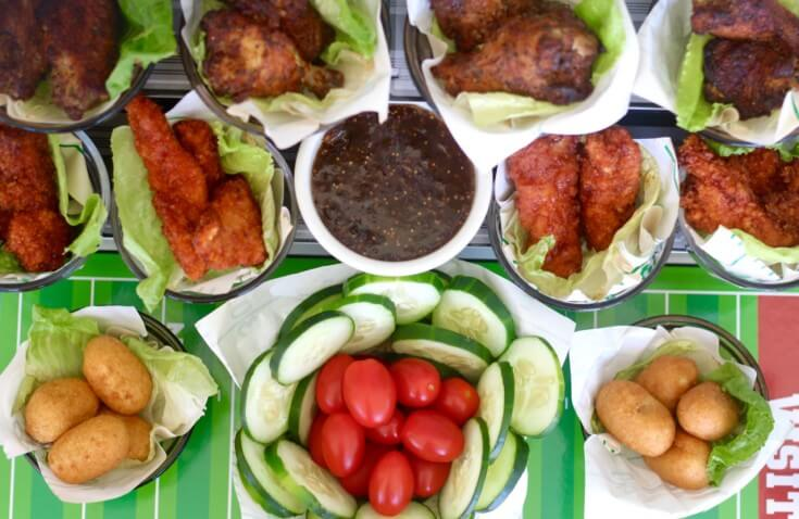 A hearty display of appetizers makes for perfect football food