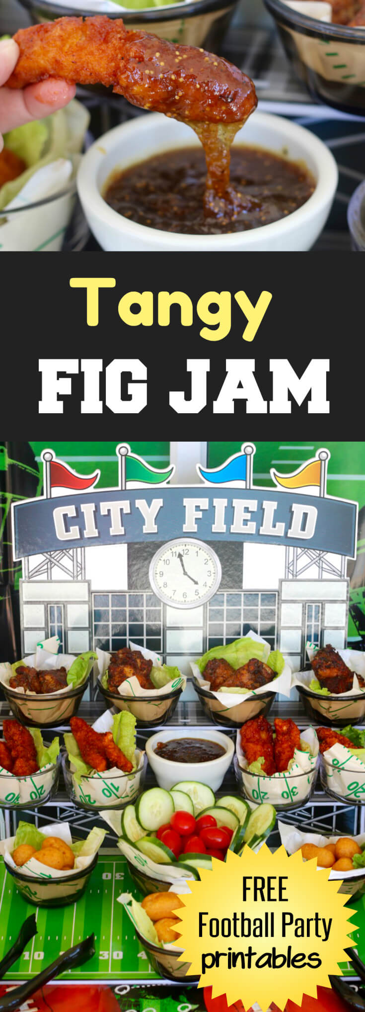 Tangy Fig Jam - perfect for dipping and FREE Football Party Printables