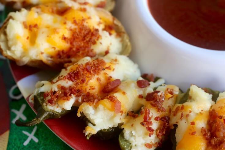 Twice Baked Potato Jalapeño Poppers with LA MORENA® Chipotle Sauce