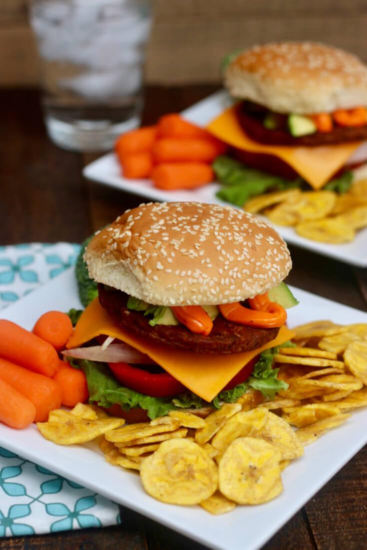 A new take on Veggie Burgers - Black Bean Burgers with Sazon Mayo