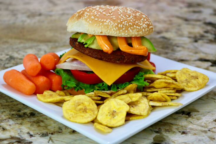 Easy Recipe for Black Bean Burgers with Sazon Mayo