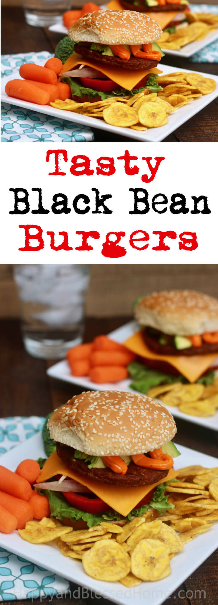 Tasty Black Bean Burgers a veggie burger perfect for a meatless family meal