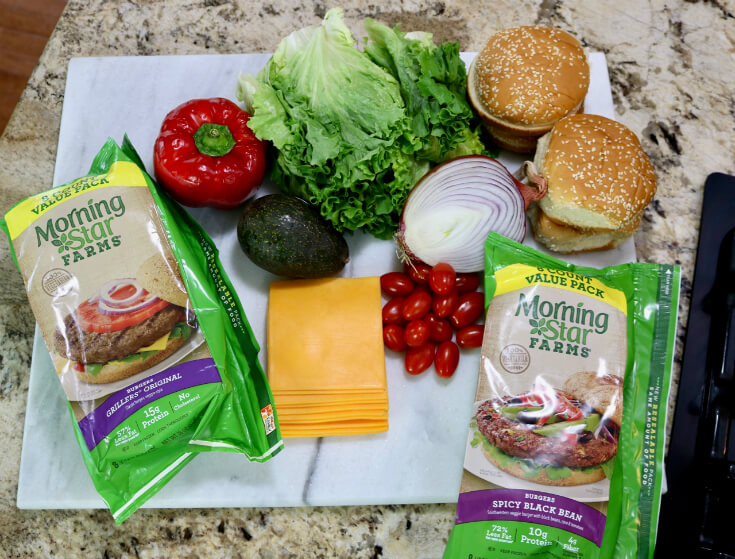 Tasty Ingredients for a Veggie Burger - Black Bean Burgers easy recipe