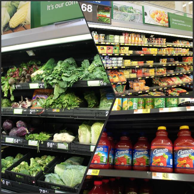 Walmart Produce and Clamato