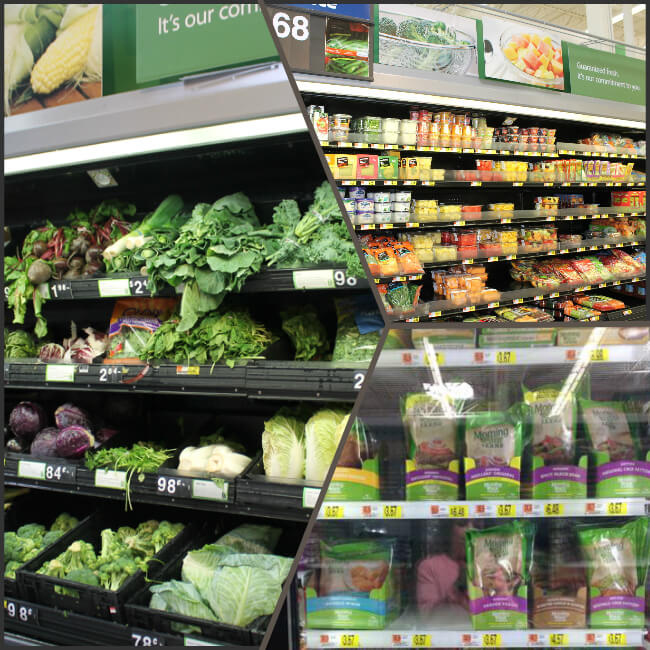 Walmart Produce and MorningStar Farms