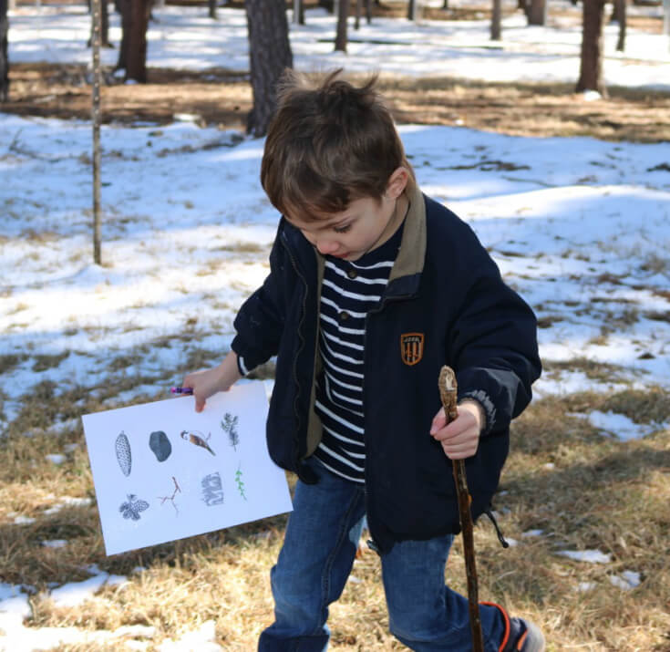 A Determined Hunter with our FREE Scavenger Hunt Printable for Kids and Goldfish® Cracker Snack Time