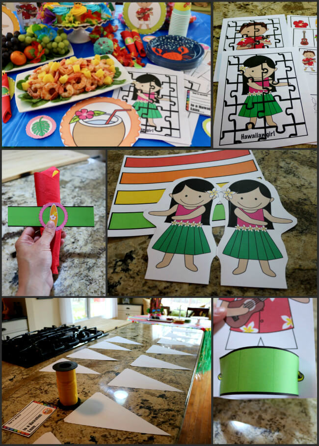 FREE 50 Page Party Pack for a Hawaiian Luau - Easy Party Tutorial