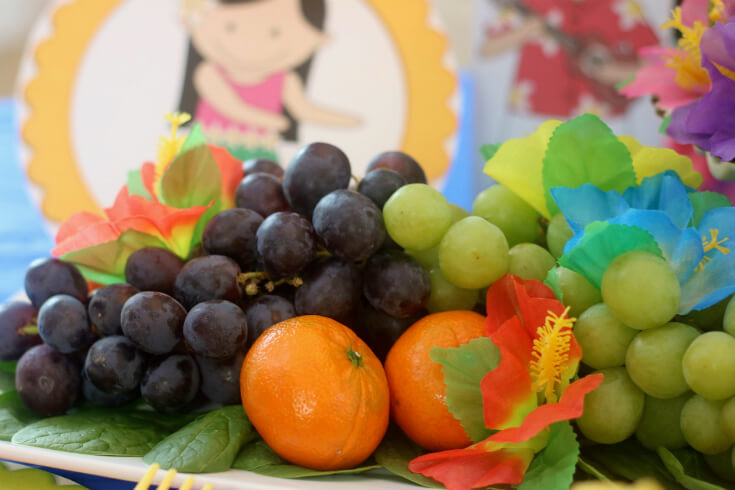Fresh Vibrant Fruit makes for the perfect Hawaiian Luau