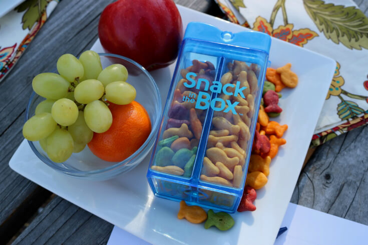 Keep snack time simple with fresh fruit and Goldfish® Crackers