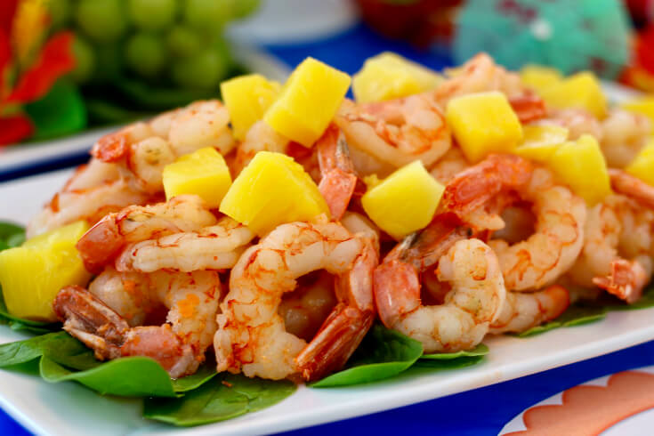 Pan Grilled Shrimp with Pineapple for a Hawaiian Luau