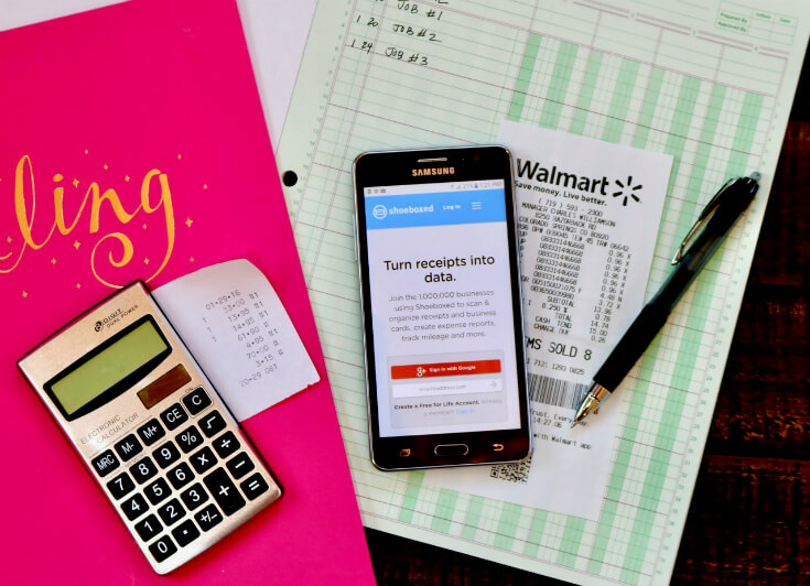 Use your SAMSUNG Galaxy On5 and Shoeboxed to record your expenses at Tax Time