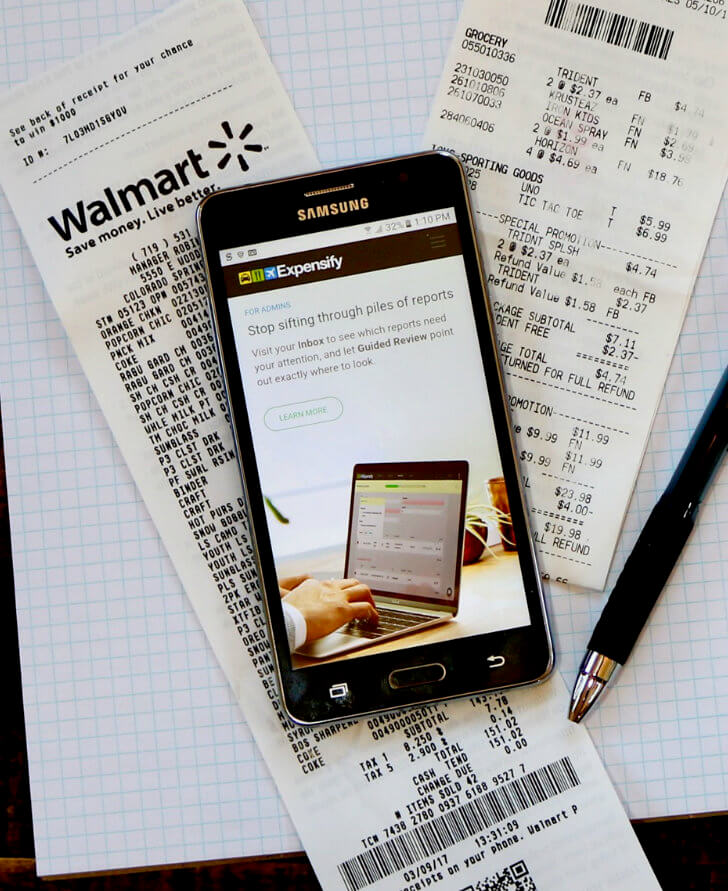 Use your SAMSUNG Galaxy On5 to record your expenses at Tax Time