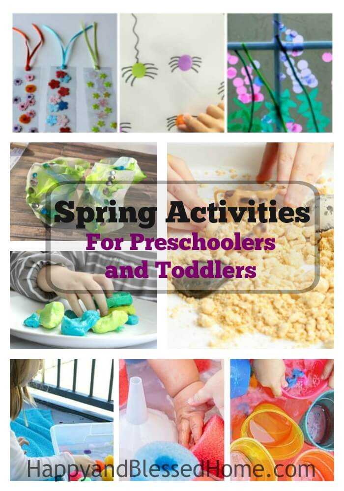 Spring Activites for Preschoolers and Toddlers