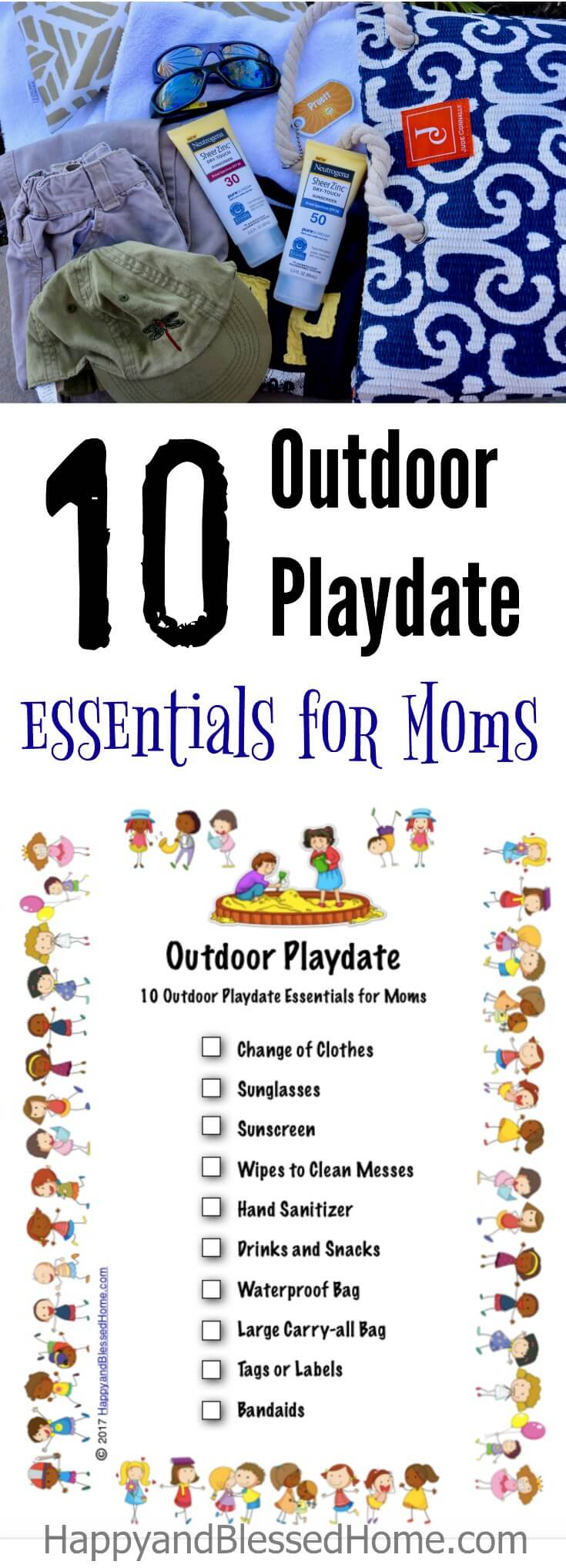 10 Outdoor Playdate Essentials for Moms with FREE printable checklist