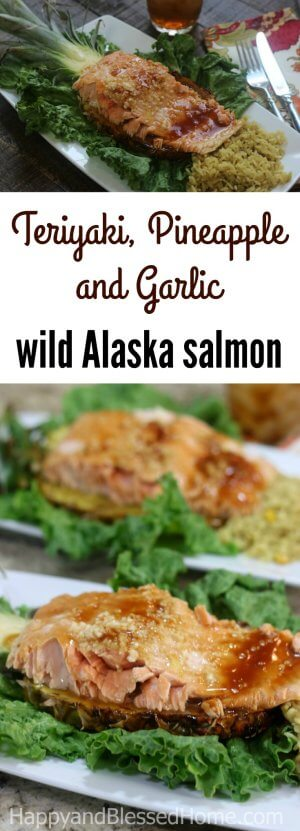 An easy recipe for fresh Alaska Seafood - Teriyaki, Pineapple and Garlic wild Alaska salmon
