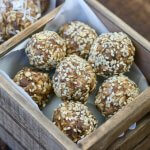 Chocolate Chip Peanut Butter Honey and Oat Energy Bites