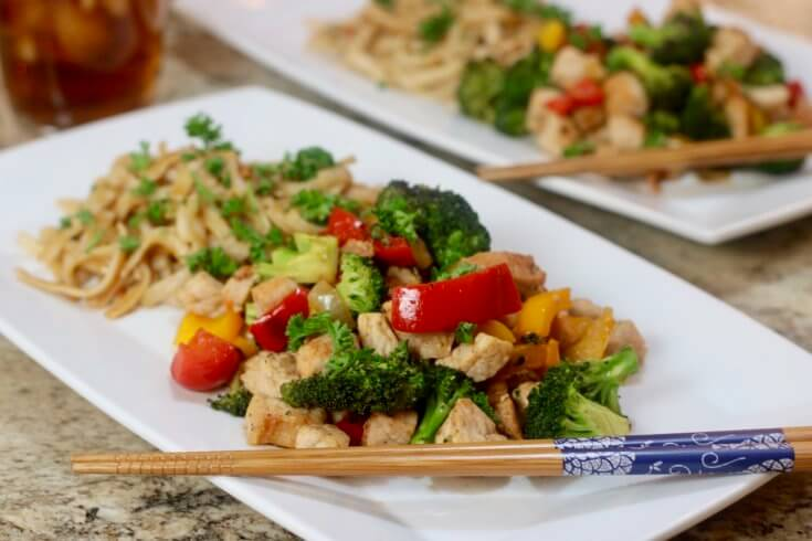 Chopsticks and Tea complement this Applewood Smoked Bacon Pork Stir Fry Recipe