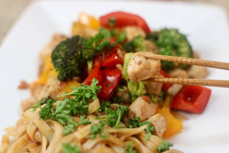 Eat with chopsticks - Applewood Smoked Bacon Pork Stir Fry Recipe