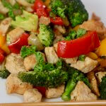 Every bit as crisp and fresh as you see here - Applewood Smoked Bacon Pork Stir Fry Recipe