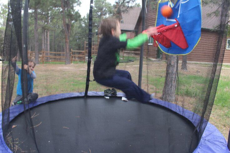 Our two boys love the new one man trampoline