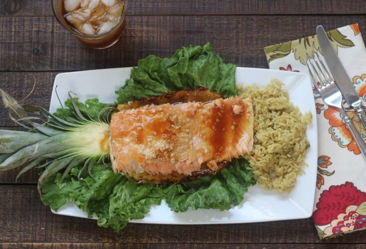 Savory garlic adds to the flavor in this High Quality Salmon Teriyaki and Pineapple Recipe