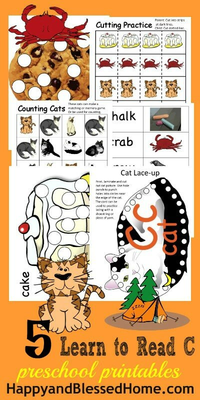 5 FREE Letter C Preschool Worksheets from HappyandBlessedHome.com