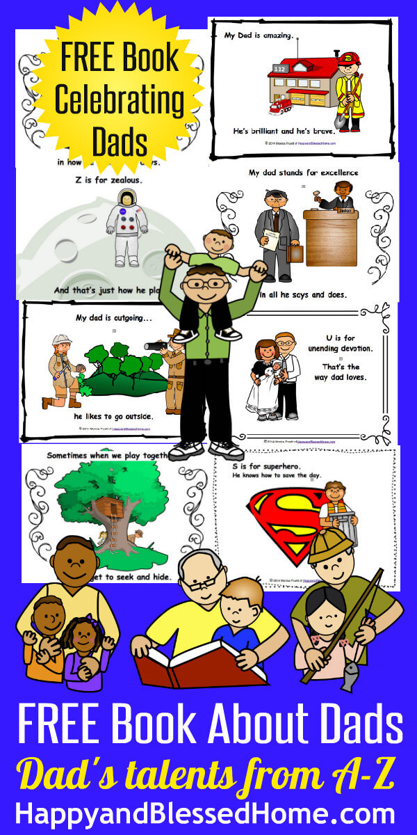 Delightful FREE Father's Day Printable Book for Children