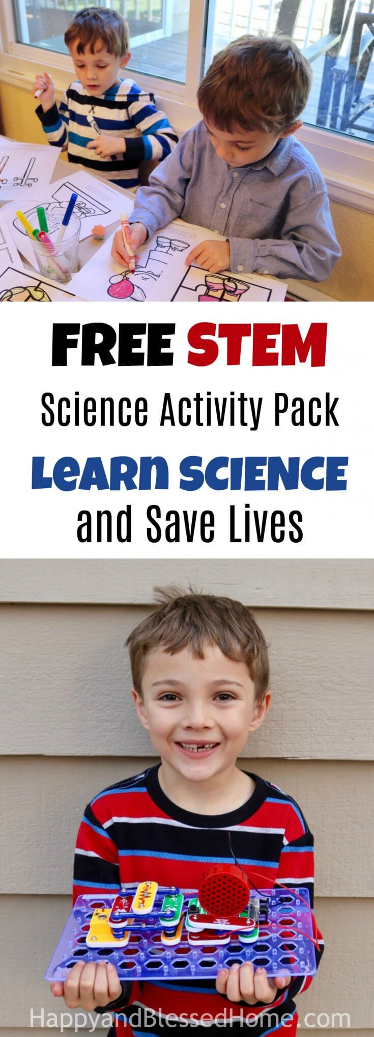 FREE STEM Science Activity Pack - Learn Science and Save Lives