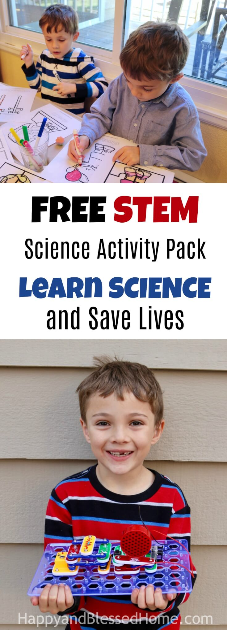 Do your kids enjoy science and electricity? Then they'll love this FREE 20 Page STEM Activity Pack Featuring Electricity. Learn Science and save lives.
