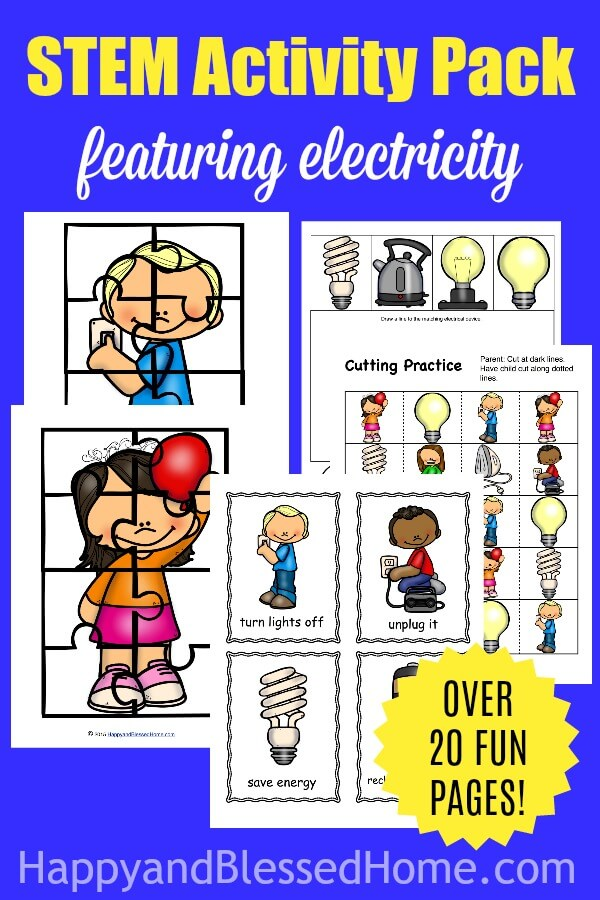 Electricity STEM Activity Pack from HappyandBlessedHome.com