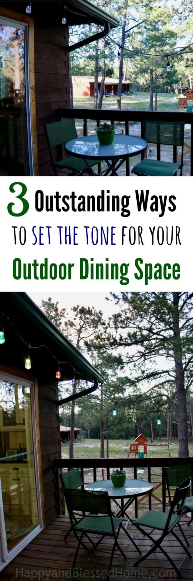 3 Outstanding Ways to Set the Tone for your Outdoor Dining Space