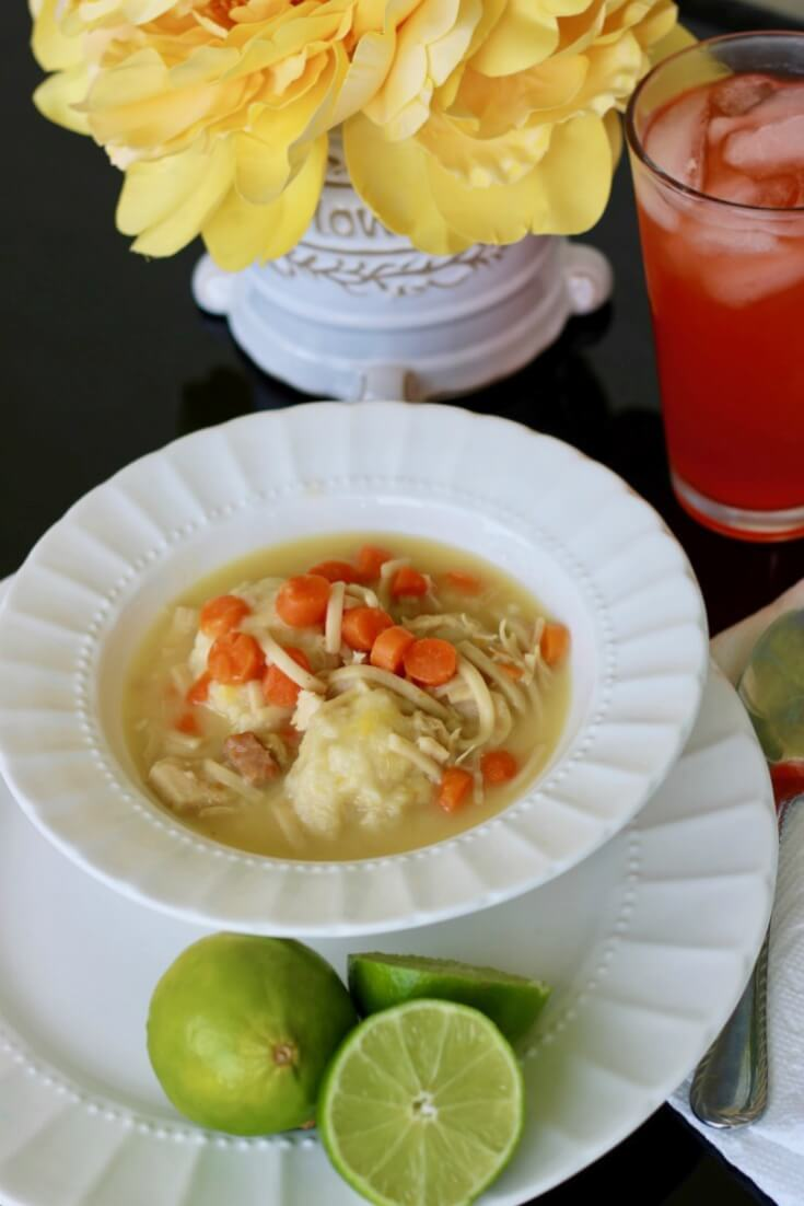 Chicken Noodle and Dumpling Soup Recipe