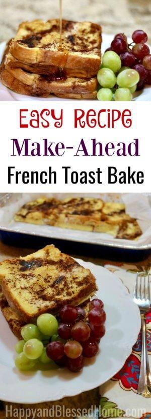 Easy Recipe Make-Ahead French Toast Bake