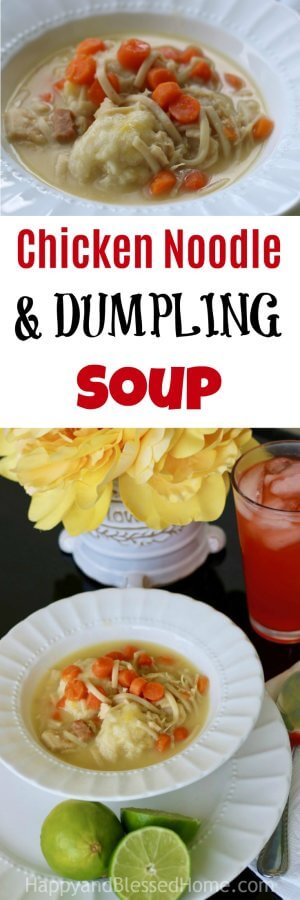 Easy Recipe for Chicken Noodle and Dumpling Soup with Make Ahead Dumpling Recipe