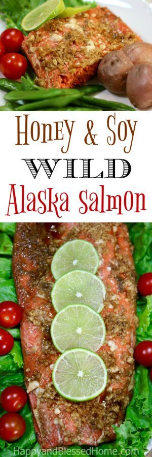 Easy Recipe for Honey and Soy wild Alaska salmon