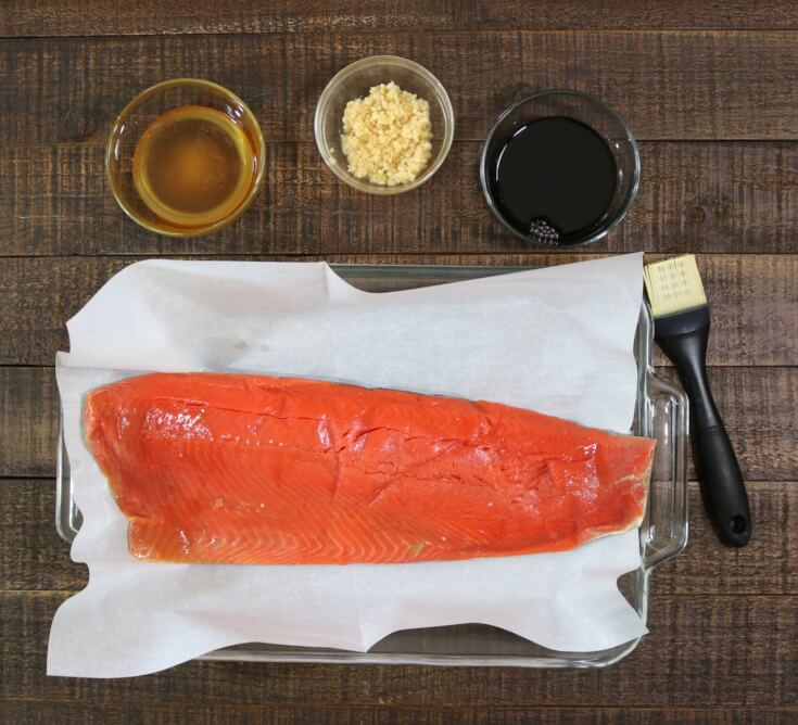 Ingredients for Easy recipe for Honey and Soy wild Alaska Salmon