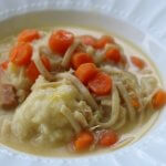 Make Ahead Dumpling Recipe and Chicken Noodle Soup