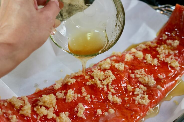 Pour on the honey for this Easy recipe for Honey and Soy wild Alaska Salmon